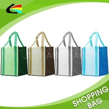 Custom Printing Reinforced Handle Heavy Duty Reusable Non Woven Grocery Shopping Tote Bag
