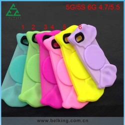 Candy Shape Silicone Back Cases For iPhone 6, For iPhone 6 Rubber Soft Thin Case