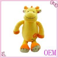 Soft cute mini cow stuffed baby toy