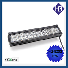 2015 high quality double row , IP68,CE,RoHs for 4WD, ATV, truck 72w led light bar hot sxs led light bars