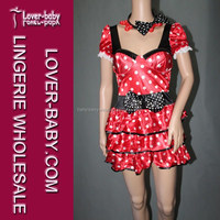 Trucklingly Red and White Retro Polka Dot Miss Mouse Costume Sex with Animals Men and Women