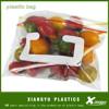 transparent fresh fruit zipper packaging bags/vegetables plastic bags