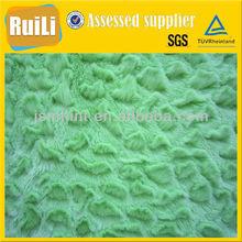 verde cepillado tejido de punto de punto de poliéster tejido de felpa