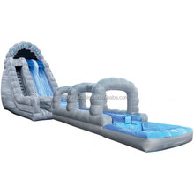 popular inflatable rock arches wet slide, inflatable roaring river 2 lane run n splash water slide