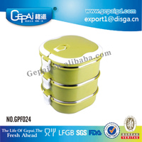 New design square stainless steel thermos food container