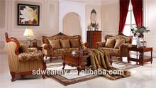 Mobília da sala de estar estrutura de madeira de carvalho sofá da tela conjunto elegante com SF5011