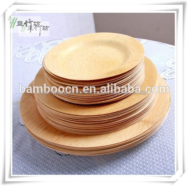 biodegradável bambu jantar pratos para a festa