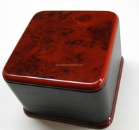 Plastic watch packaging box with wooden top & bottom painting finished