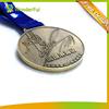 Customized Marathon Running Runner Metal Antique Bronze 3D Running Medal with Ribbon