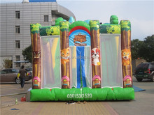 Animal jungle cheap inflatable water slide for sale