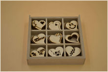 wooden heart stickers,carved wooden heart