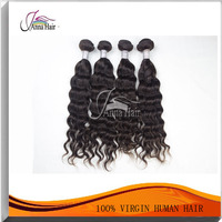 Factory price direct virgin indian hair clip in bangs