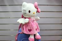 30*20cm sweet heart dress pink hello kitty school bags angel wing hello kitty toys