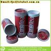 Custom paper tea box tea paper can with rolling edge
