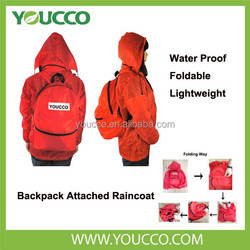 2015 Newly Outdoor Foldable Raincoat backpack Waterproof bag backpack