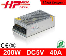 CE RoHS approved single output constant voltage 200w 40a 5v ac dc power supply