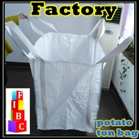 100% plastic high quality top open vegetable super sacks, 1 ton vegetable bags