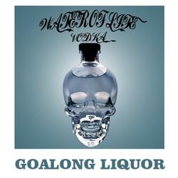black vodka in UK Goalong can customize