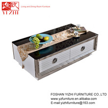 Hot Seller High Gloss Wood Glass Coffee Table CJ501