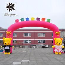 8m Span Custom inflatable cartoon bear archway