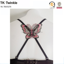 TK-Twinkle Butterfly Lace Cross Back Invisible Bra Straps