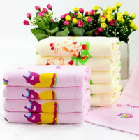 Sandy Gauze Cotton Fabric Custom Printed Fingertip Towels