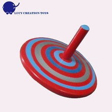 Children Classic Play Wooden Spinning Top Toy