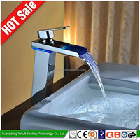 China high quality led shower basin water tap led mixer