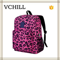 Hot pink leopard sexy girls school bag wholesaler