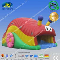 Giant cute snail inflatable jump castles for sale
