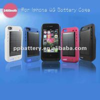 2400mah portable solar charger for iphone 4s/4