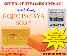 Royale Kojic Papaya Whitening Soap - Removes Pimples, Warts and Blemishes
