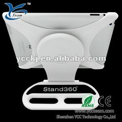 HOT desktop stand 360 degrees rotating stand/case for apple ipad 2