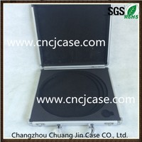 With cut-out EVA foam inserts small portable tool boxes aluminum