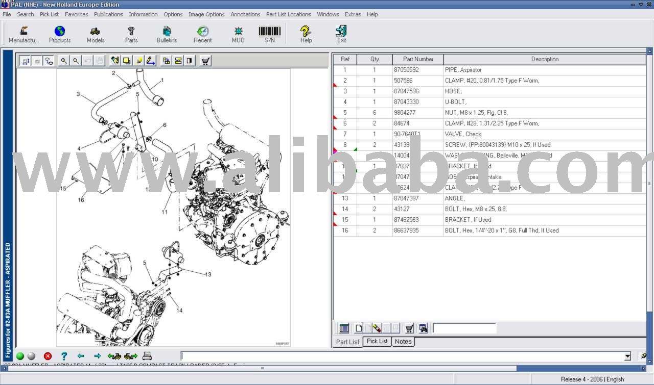 Catálogo electrónico NEW HOLLAND repuestos software