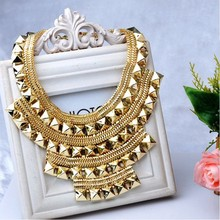 Fashion Jewelry Wholesale Exaggerated Gold Color Necklaces