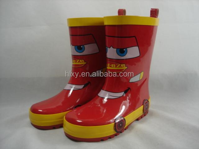 красный дождь обувь для мальчиков автомобиль форме