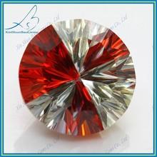 Wuzhou Multicolor Round Brilliant Cut CZ wholesale names of semi precious stones