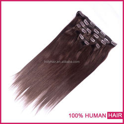Top quality double drawn Brazilian hair 100% remy hair,one piece clip in human hair extensions