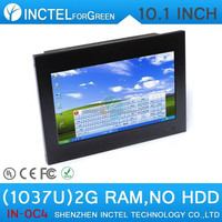 Windows7 based 10 inch 4-wire resistive touchscreen all in one computers Intel Celeron C1037U 1.8Ghz 1.8G 2G RAM ONLY