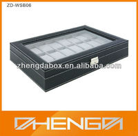 High Quality Customized Made-In-China Guangzhou Factory Wooden Jewelry display box with Window(ZDL-WB140)