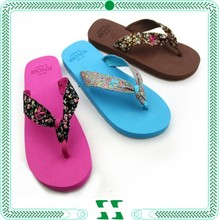 special design bright color flip flops for women