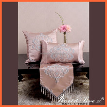 WL427 European Style Pink Luxury Jacquard Imitated Silk Sofa Cushion