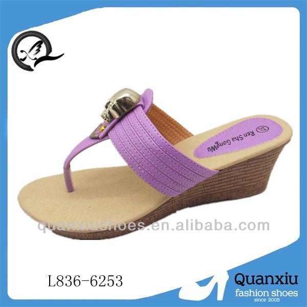 Nuevo estilo de moda últimas para mujer sandalias de cuña diseños 2014 for mujeres