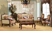Handmade factory wood carved living room set classic sofa set S1201
