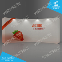 Portable Tension Fabric Display Wall 17' curved shape, Tube Display Stand 17' curved shape