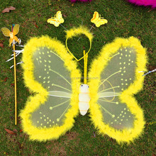 kid babay angel wing with feather fairy butterfly wings