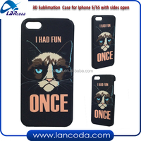 2015 Lancoda 3D sublimation case cover for iphone5,sublimation blank phone cases 3d sublimation film printing machine