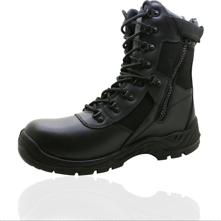 newest and comfortable black security guard boots made in
