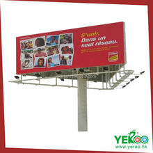 Attractive Visual Outdoor Sideway Posters Displaying Rectangle Advertising Unipole Column Billboard